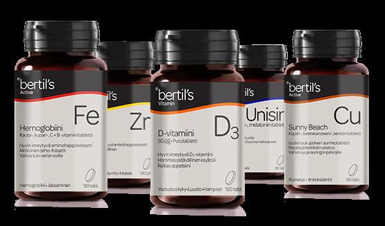 Bertil's hivenaineet ja vitamiinit