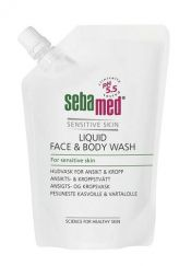Sebamed Liquid Face & Body Wash pesuneste 400 ml täyttöpussi