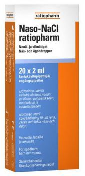 Naso Nacl Ratiopharm nenä-/silmätipat 20x2ml