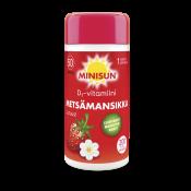 Löytö! Minisun D-vitamiini Metsämansikka 50 µg 200 tabl. (parasta ennen 28.12.19)