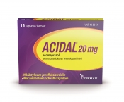 Acidal 20 mg 14 enterokapselia
