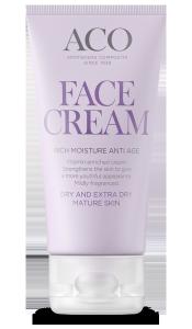 Aco Face Cream Rich Moisture Anti Age kuivasta erittäin kuivalle aikuiselle iholle 50 ml