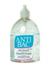 Antibac desinfioiva käsigeeli 500 ml pumppupullo
