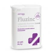 Apteq Fluzinc mustaherukka 24 tabl.