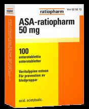 ASA-ratiopharm 50 mg 100 tablettia