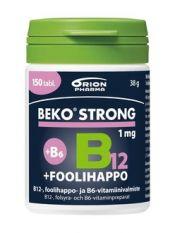 Beko Strong B12+foolihappo+B6 1 mg 150 tabl.