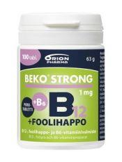 Beko Strong B12+foolihappo+B6 100 purutabl.