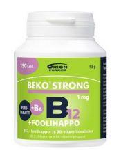 Beko Strong B12+foolihappo+B6 150 purutabl.