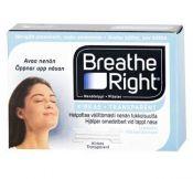 Breatheright nenäteippi kirkas 4 x 30 kpl tukkupakkaus