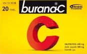 Burana-C tabletti, kalvopäällysteinen 20 läpipainopakkaus