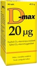 D-max 20 µg 90 tabl.