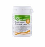Löytö! Apteekki D3-vitamiini 20 µg 100 tabl. (parasta ennen 9.6.20)