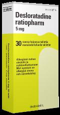Desloratadine ratiopharm 5 mg tabletti, suussa hajoava 30 läpipainopakkaus