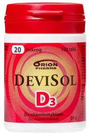 DeviSol 20 µg 100 tabl.