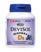 DeviSol Mustikka 20 µg 200 tabl.