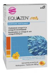 Equazen chews mansikka rasvahappovalmiste 180 kpl