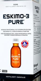 Löytö! Eskimo-3 Pure nestemäinen kalaöljy 210ml (parasta ennen 11/20)
