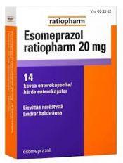 Esomepratsol Ratiopharm 20 mg enterokaps. 14 läpipainopakkaus