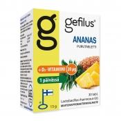 Gefilus + D Ananas 30 purutablettia