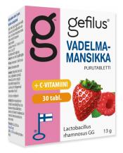 Gefilus Vadelma-Mansikka Purutabletti 30 tabl.