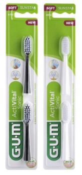 GUM ActiVital Sonic hammasharjan vaihtopäät 2 kpl