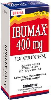 Ibumax 400 mg tabletti, kalvopäällysteinen 30 läpipainopakkaus