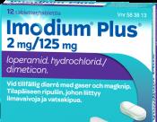 Imodium Plus 2 mg/125 mg tabletti 12 läpipainopakkaus