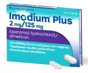 Imodium Plus 2 mg/125 mg tabletti 6 läpipainopakkaus