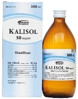 Kalisol 50 mg/ml oraaliliuos 500 ml