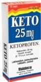 Keto 25 mg tabletti, kalvopäällysteinen 15 läpipainopakkaus