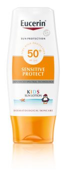 Eucerin Sensitive Protect Kids Sun Lotion SPF50+  150 ml  - aurinkosuojavoide lapsille