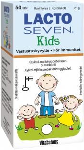 Lacto Seven Kids maitohappobakteeri 50 tabl.