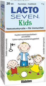 Löytö! Lacto Seven Kids maitohappobakteeri 20 tabl. (parasta ennen 10/20)