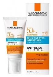 La Roche-Posay ANTHELIOS Ultra SPF 50+ - aurinkosuojavoide kasvoille ja silmänympärysiholle 50 ml