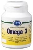 Lysi Omega-3 kalaöljy-E-vitamiini 120 kaps.