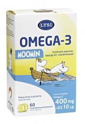 Lysi Omega-3 Muumi 60 kaps.