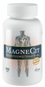 MagneCit magnesiumsitraatti-B6-vitamiinivalmiste 100 tabl.