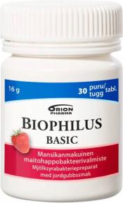 Biophilus Basic Mansikka 30 purutabl.