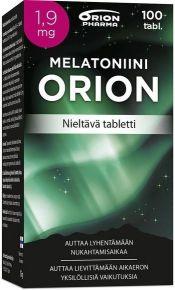 Melatoniini Orion 1,9 mg 100 tabl. nieltävä