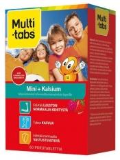 Multi-Tabs Mini Kalsium Vadelma-Mansikka 60 purutabl.