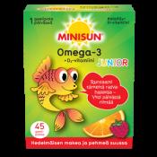 Minisun Omega Junior Hedelmäinen 45 geelipalaa