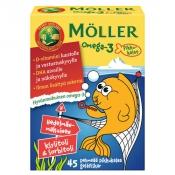 Möller Omega-3 Pikkukalat Hedelmäinen 45 kpl