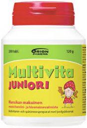 Multivita Juniori mansikka 200 tabl.