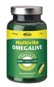 Multivita Omegalive Basic 120 kaps. (parasta ennen 9.8.21)