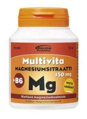 Multivita Magnesiumsitraatti +B6 nieltävä 90 tabl