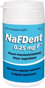 NafDent 0,25 mg Fluori-imeskelytabletti 300 tablettia