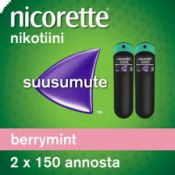 Nicorette Berrymint 1 mg/annos 2x150 annosta