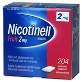 Nicotinell Fruit 2 mg lääkepurukumi 204 läpipainopakkaus