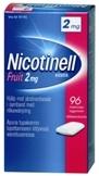 Nicotinell Fruit 2 mg lääkepurukumi 96 läpipainopakkaus