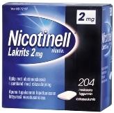Nicotinell Lakrits 2 mg lääkepurukumi 204 läpipainopakkaus